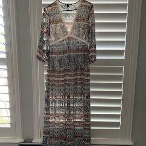 Long sleeve, patterned dress